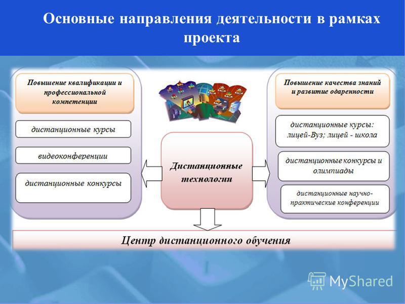 Основные направления деятельности в рамках проекта