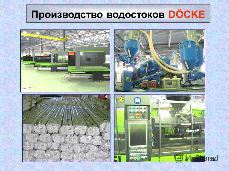 26 Производство водостоков DÖCKE