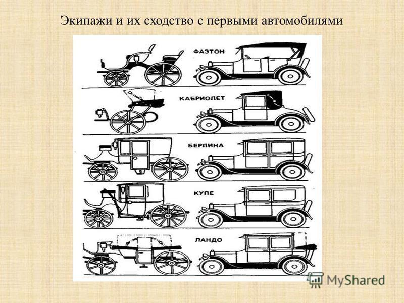 История развития транспорта. Первая повозка паромобиль экипаж Первый автомобиль