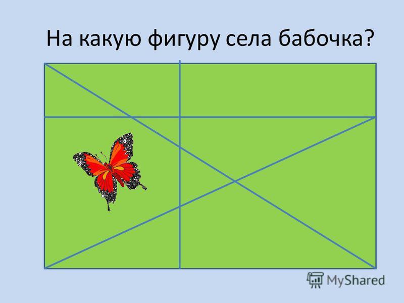 На какую фигуру села бабочка?