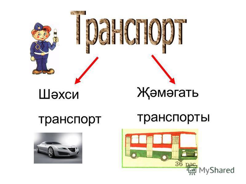 Шәхси транспорт Җәмәгать транспорты