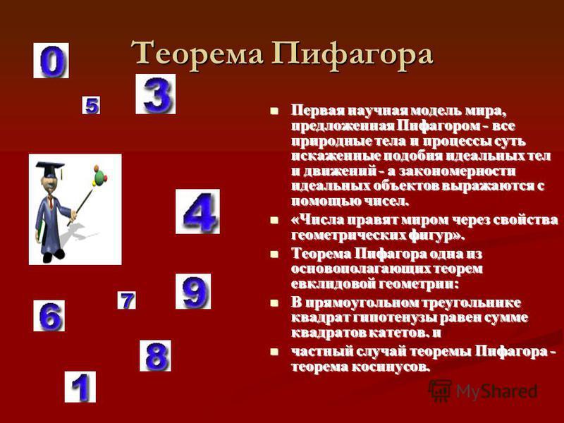 Однако в настоящее время установлено, что эта важнейшая теорема встречается в вавилонских текстах, написанных за 1200 лет до Пифагора. Однако в настоящее время установлено, что эта важнейшая теорема встречается в вавилонских текстах, написанных за 12
