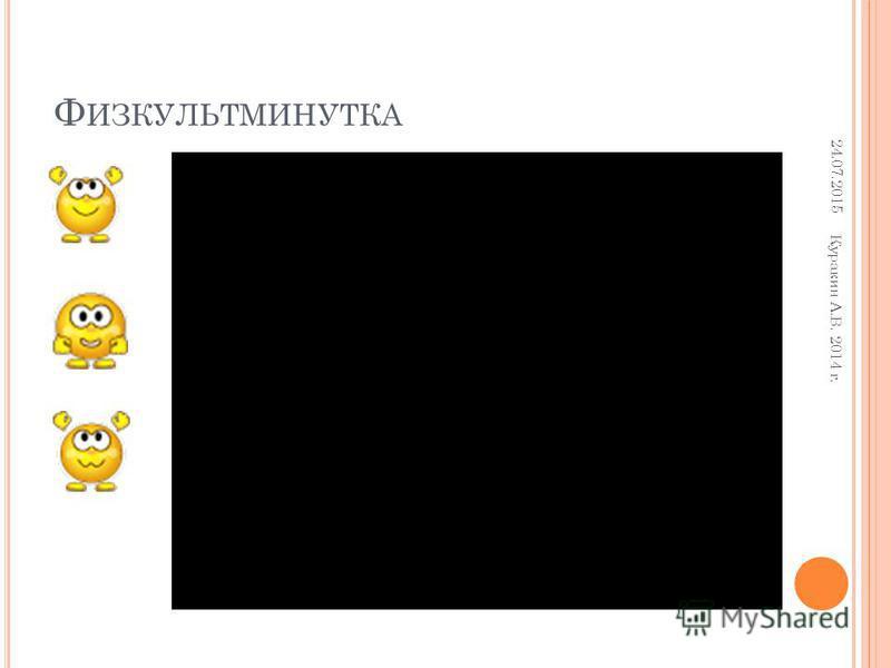 Ф ИЗКУЛЬТМИНУТКА 24.07.2015 Куракин А.В. 2014 г.