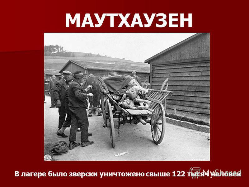 МАУТХАУЗЕН В лагере было зверски уничтожено свыше 122 тысяч человек