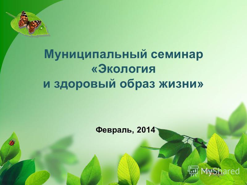 Муниципальный семинар «Экология и здоровый образ жизни» Февраль, 2014