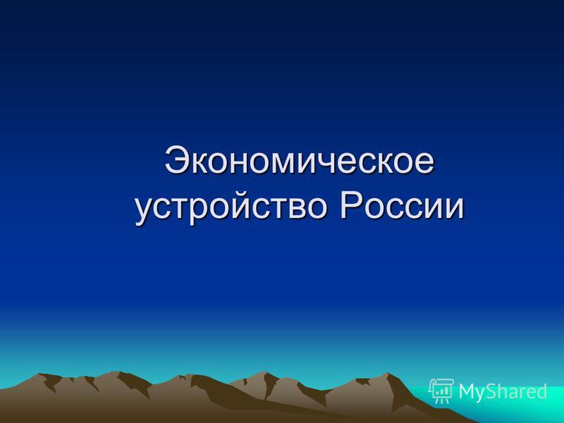 Экономическое устройство России
