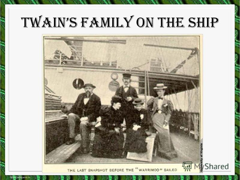 Twains family on the ship