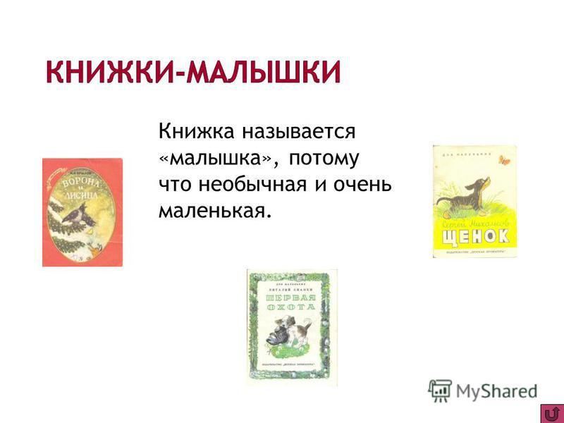 Книжка называется «малышка», потому что необычная и очень маленькая.