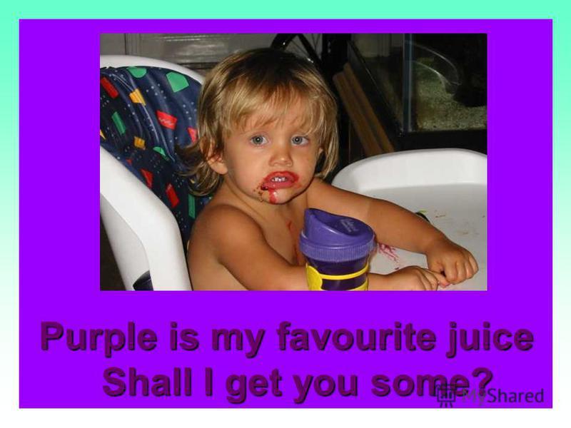 Purple is a plum