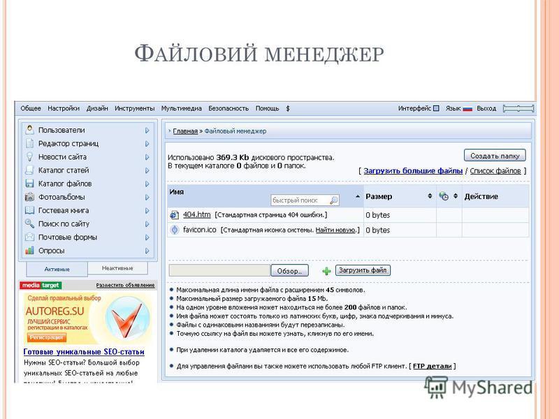 Ф АЙЛОВИЙ МЕНЕДЖЕР