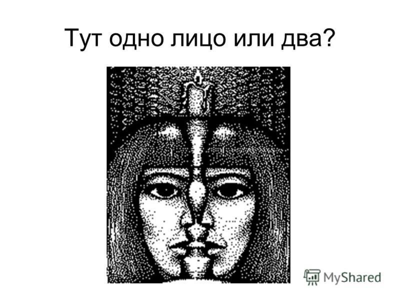 Тут одно лицо или два?