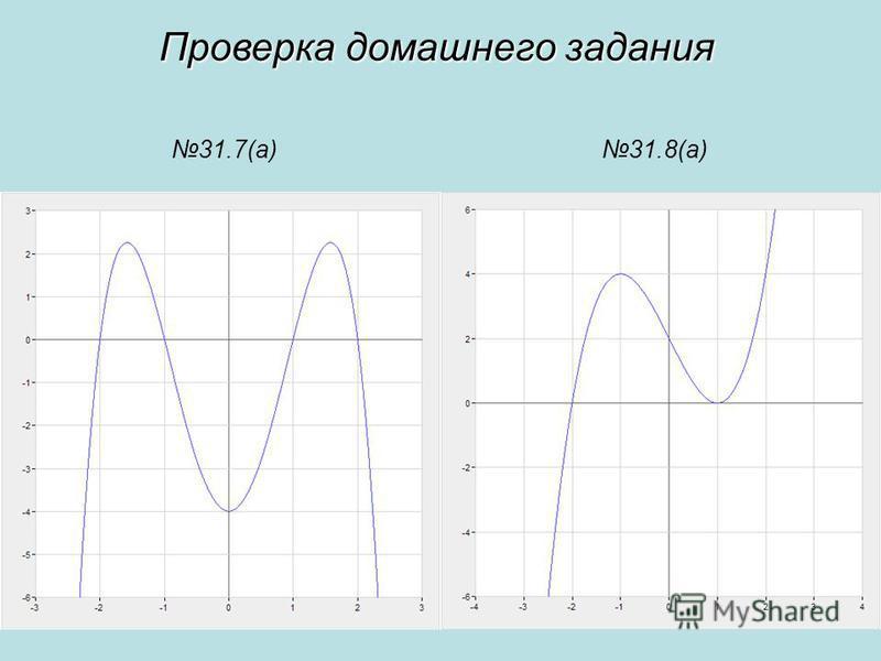 31.7(а)31.8(а) Проверка домашнего задания