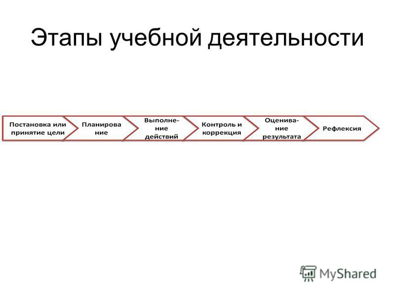 Этапы учебной деятельности