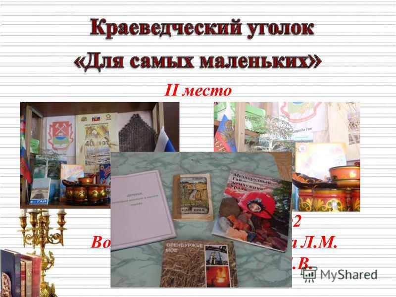 II место II младшая группа 2 Воспитатели : Толмачева Л.М. Гостева Е.В.