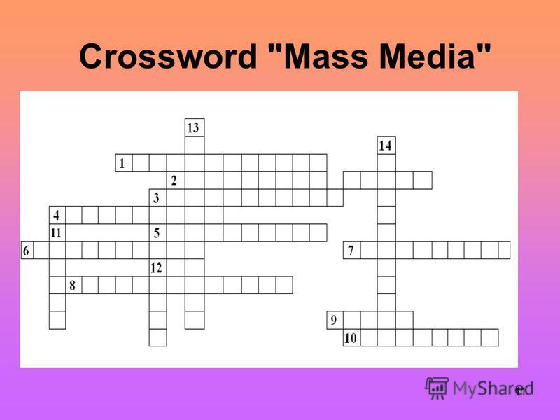 11 Crossword Mass Media