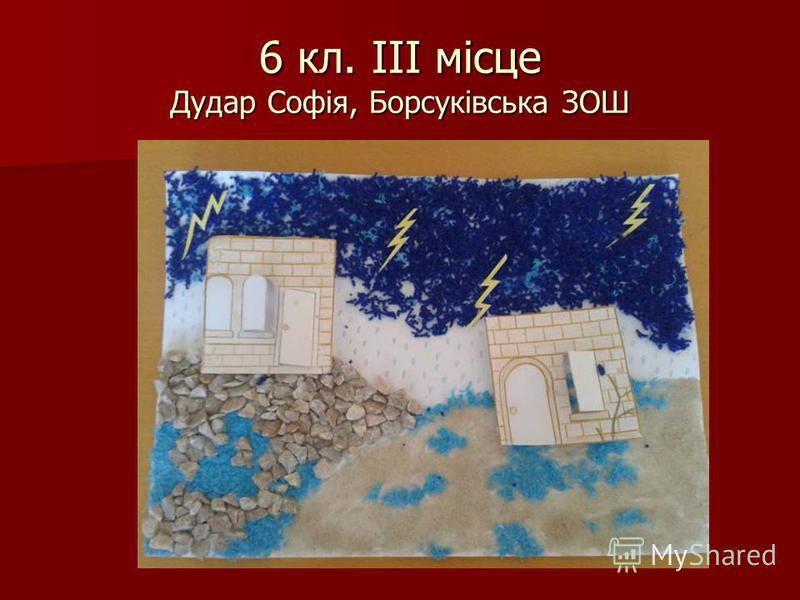 6 кл. ІІІ місце Дудар Софія, Борсуківська ЗОШ