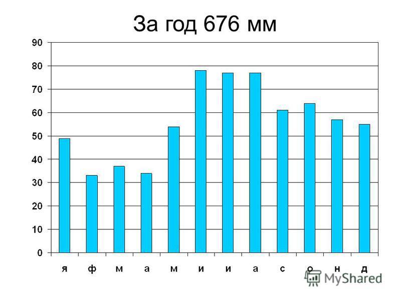 За год 676 мм