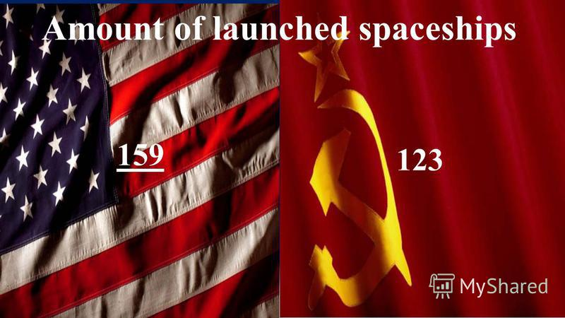 Amount of launched spaceships 159 123