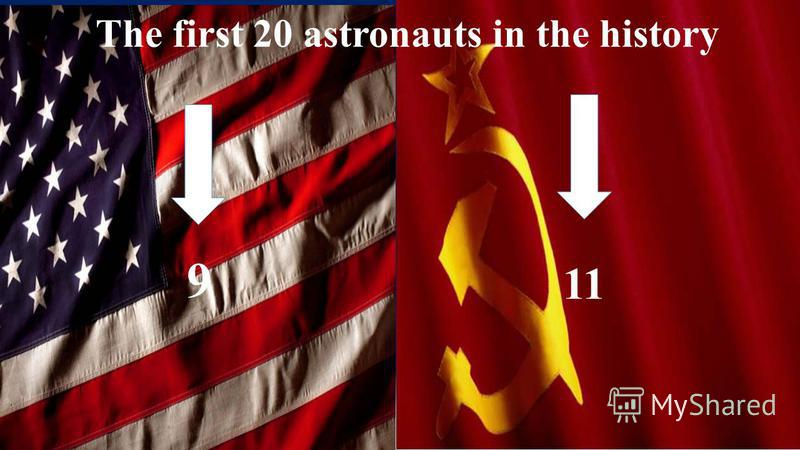 The first 20 astronauts in the history 9 11