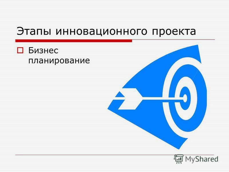 Этапы инновационного проекта Бизнес планирование