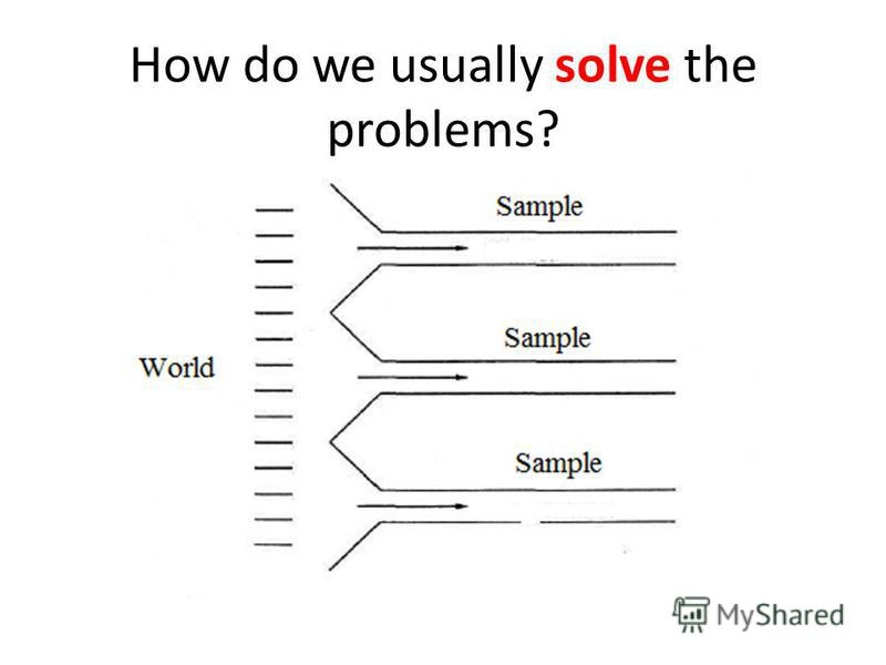 How do we usually solve the problems?