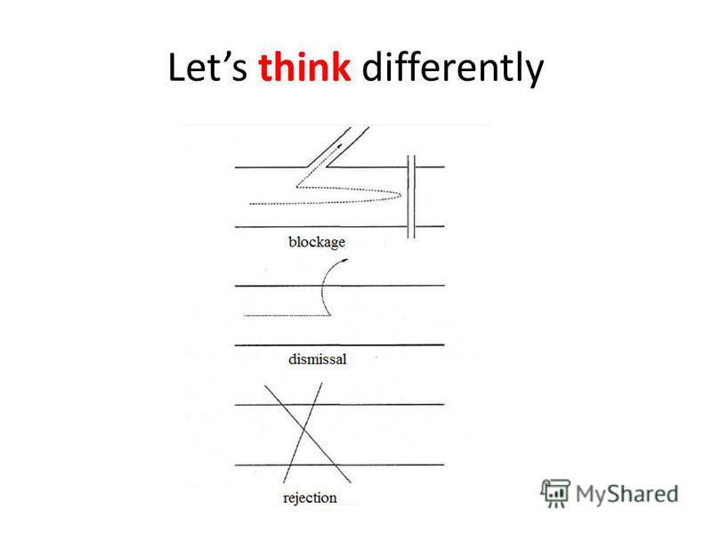 Lets think differently