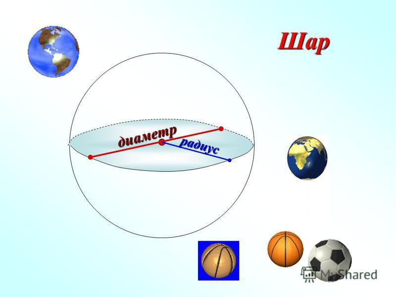 Шар диаметр радиус