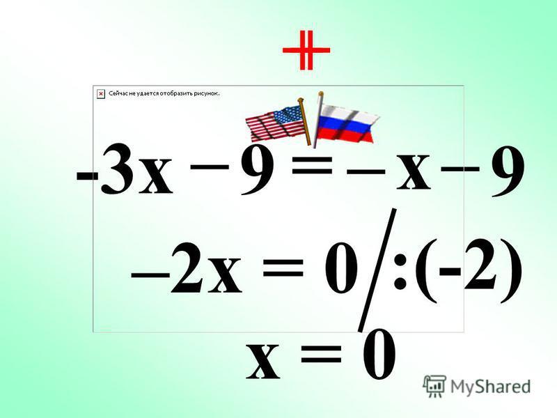 -3x + 8 = 3x – 4 – + – 0x = –12 Нет корней!!!Нет корней!!!