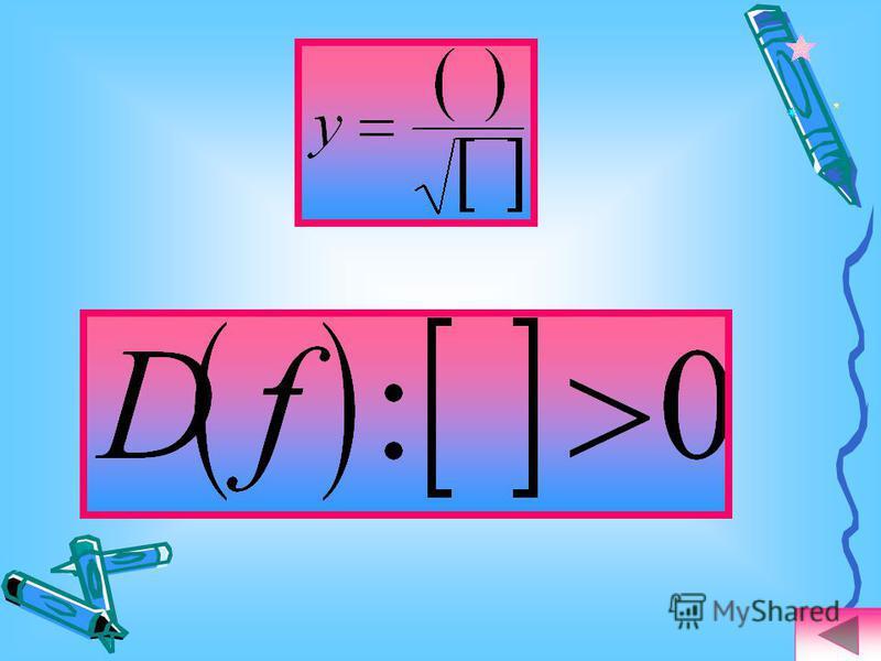 Найдите область определения функции: ветви вверх Ответ: