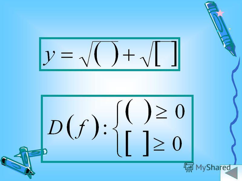 Найдите область определения функции: ветви вверх так как 4>0 знак нер-ва не меняется Ответ: Подсказка