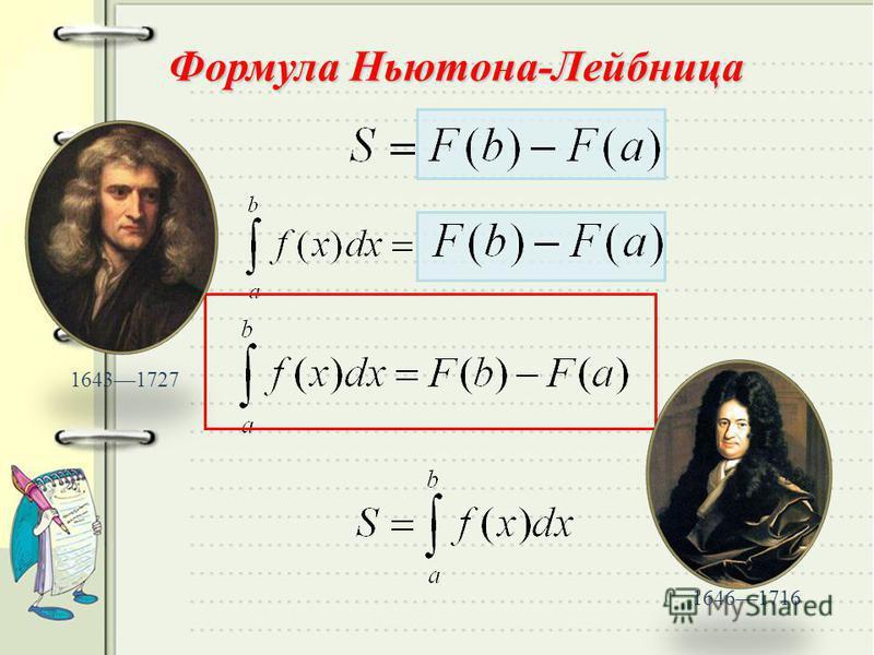 Формула Ньютона-Лейбница 16431727 16461716