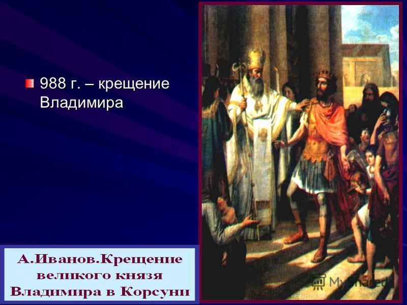 988 г. – крещение Владимира