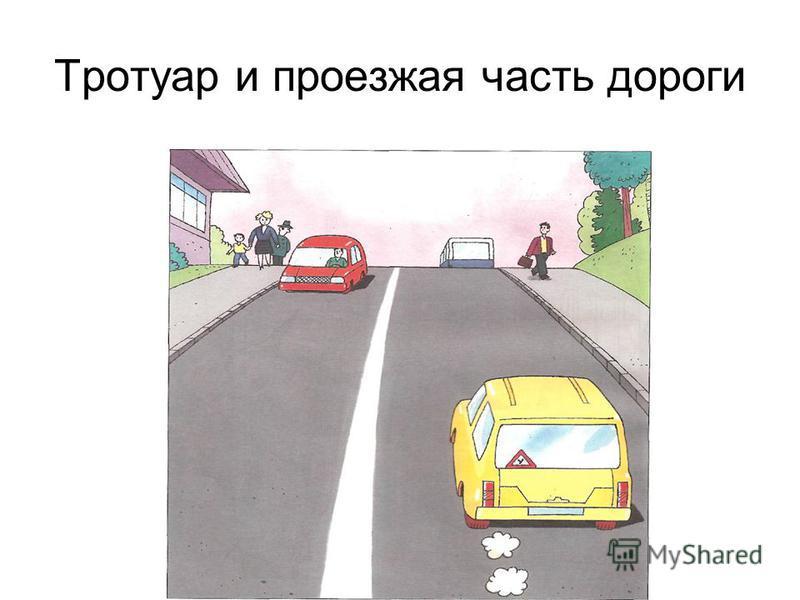 Тротуар и проезжая часть дороги