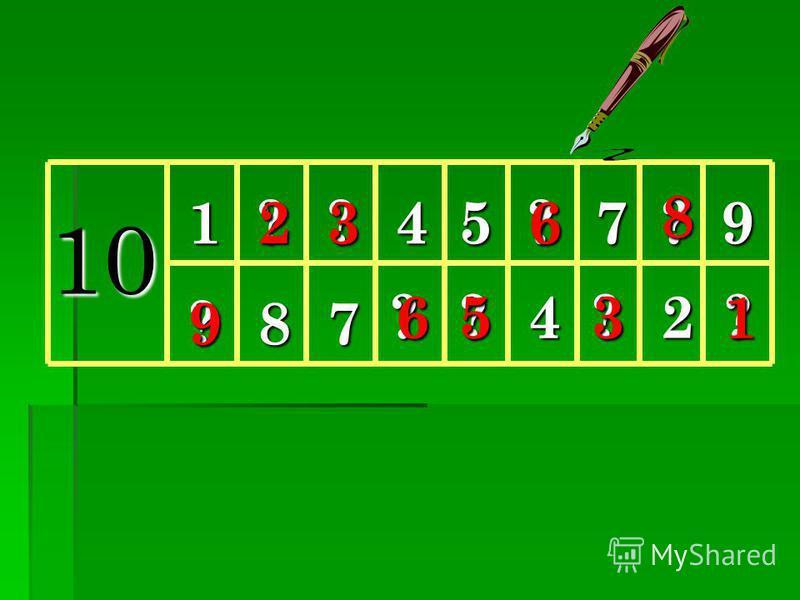 Работа по учебнику 3. Заполни в тетради таблицу так, чтобы числа в одном столбике дополняли друг друга до 10. (Значение их суммы должно равняться числу 10) 3. Заполни в тетради таблицу так, чтобы числа в одном столбике дополняли друг друга до 10. (Зн