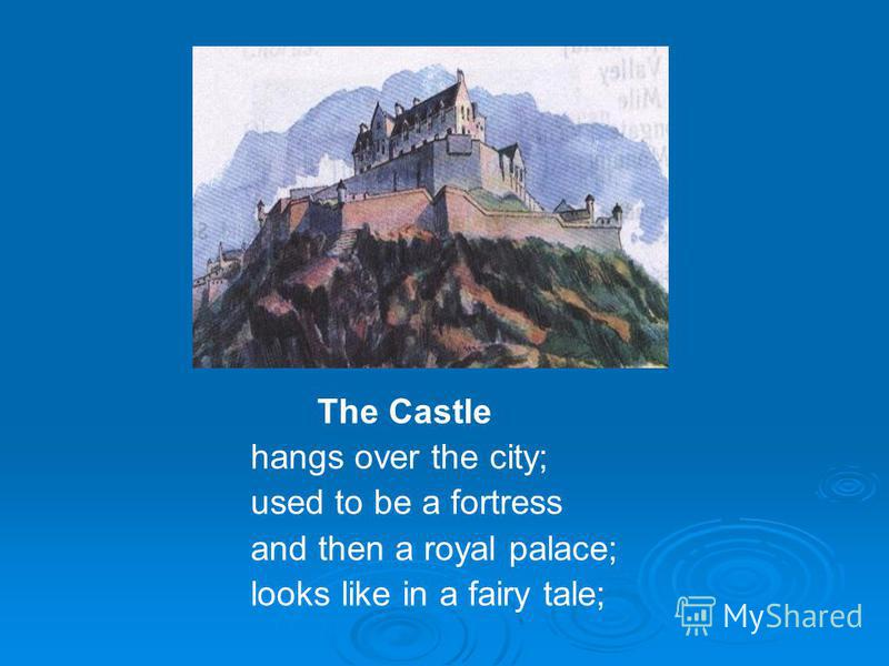 The Castle hangs over the city; used to be a fortress and then a royal palace; looks like in a fairy tale;