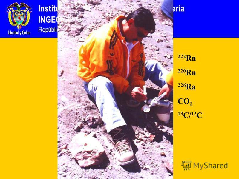 Instituto Colombiano de Geología y Minería INGEOMINAS República de Colombia 222 Rn 220 Rn 226 Ra CO 2 13 C/ 12 C