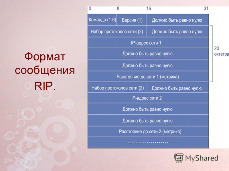 Формат сообщения RIP.
