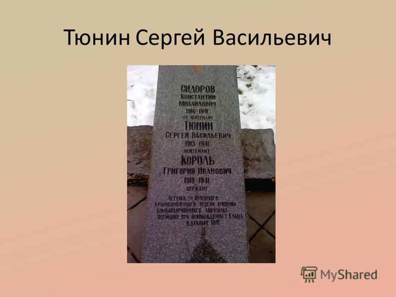 Тюнин Сергей Васильевич