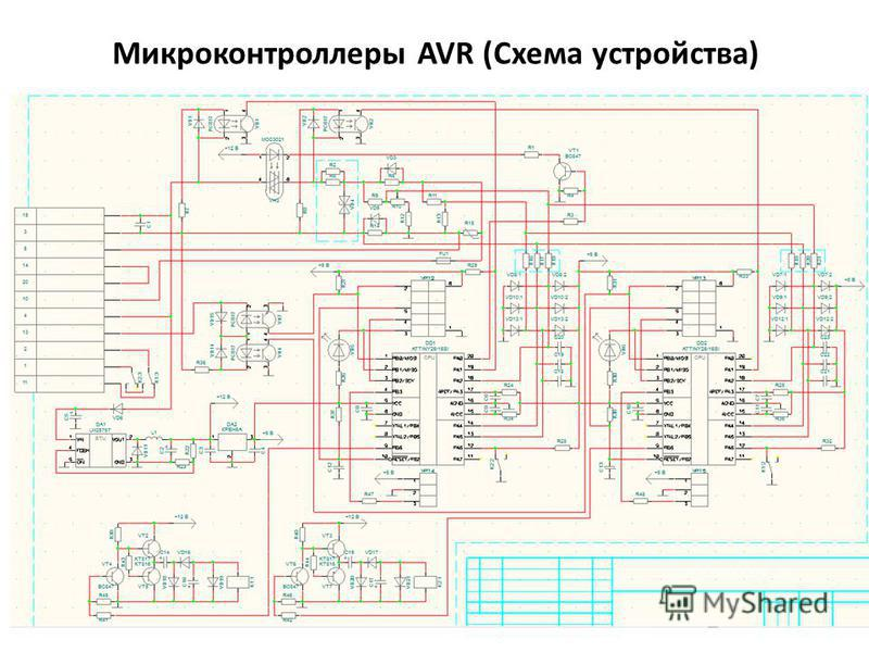 Микроконтроллеры AVR (Схема устройства)