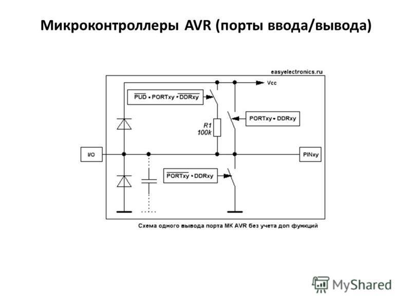 Микроконтроллеры AVR (порты ввода/вывода)