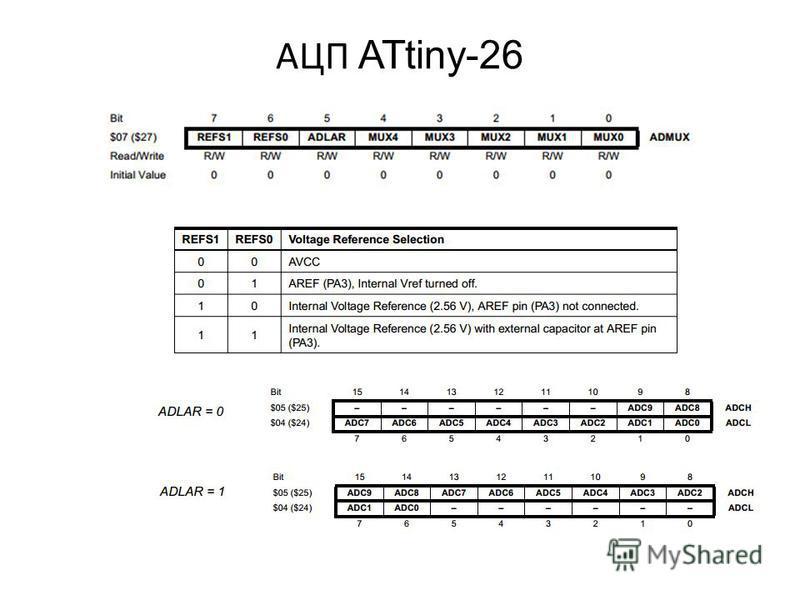 АЦП ATtiny-26