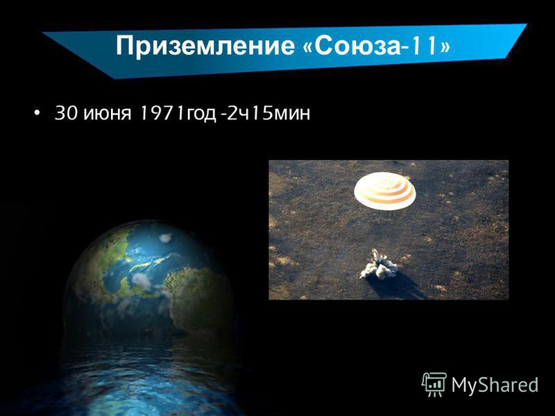Приземление « Союза -11» 30 июня 1971 год -2 ч 15 мин