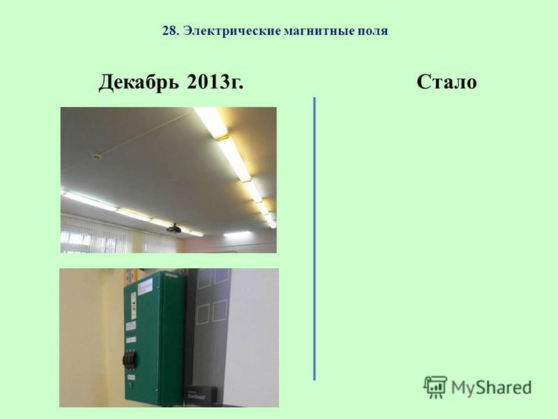 28. Электрические магнитные поля Декабрь 2013 г.Стало