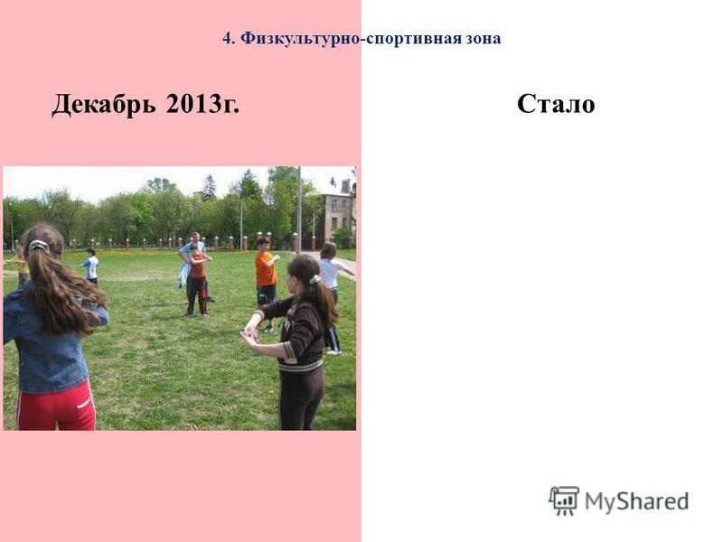 4. Физкультурно-спортивная зона Декабрь 2013 г.Стало