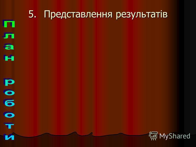 5.П редставлення результатів