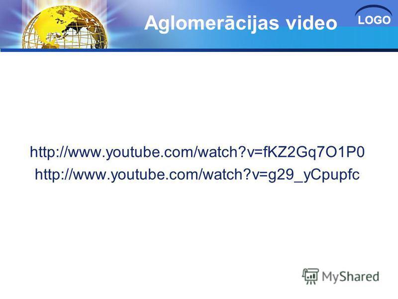 LOGO Aglomerācijas video http://www.youtube.com/watch?v=fKZ2Gq7O1P0 http://www.youtube.com/watch?v=g29_yCpupfc