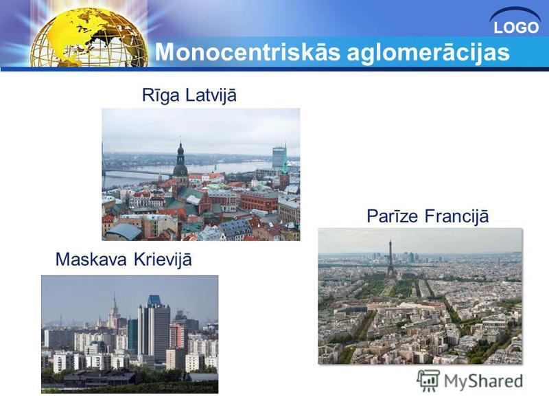 LOGO Monocentriskās aglomerācijas Maskava Krievijā Parīze Francijā Rīga Latvijā