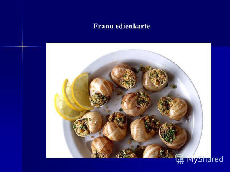 Franu ēdienkarte