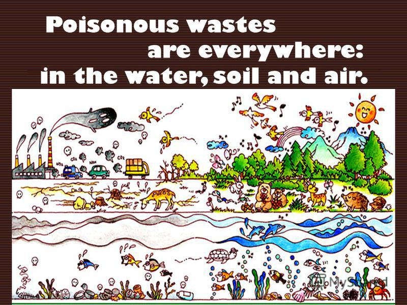 Poisonous wastes are everywhere: in the water, soil and air.