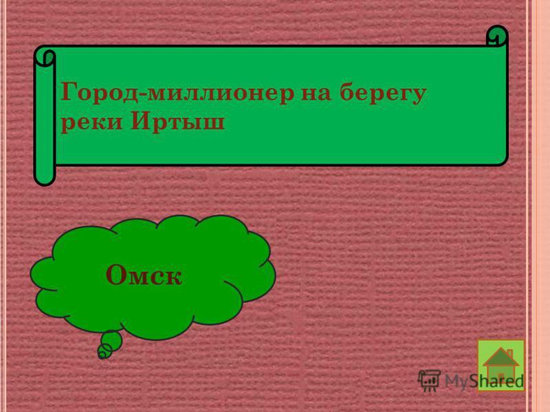 Город-миллионер на берегу реки Иртыш Омск